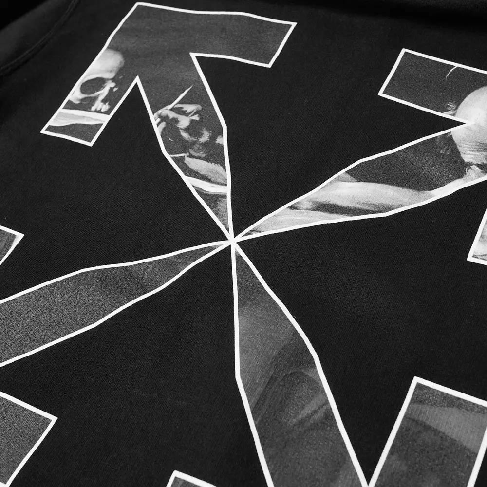 Off-White Caravaggio Arrow Slim Zip Hoodie Black Detail 2