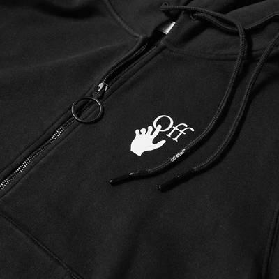 Off-White Caravaggio Arrow Slim Zip Hoodie Black Detail