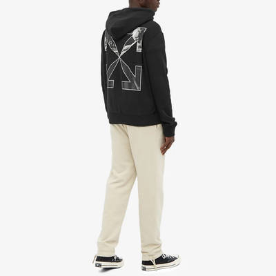 Off-White Caravaggio Arrow Slim Zip Hoodie Black Full