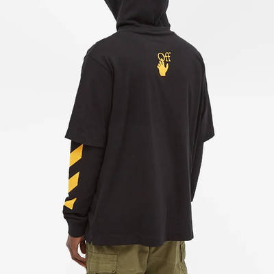 Off-White Caravaggio Painting Double Sleeve Hoodie Black Back