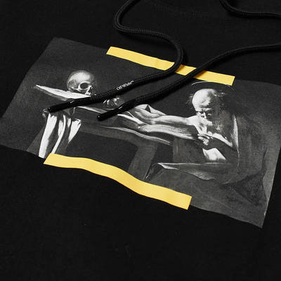 Off-White Caravaggio Painting Double Sleeve Hoodie Black Detail