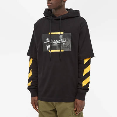 Off-White Caravaggio Painting Double Sleeve Hoodie Black Front
