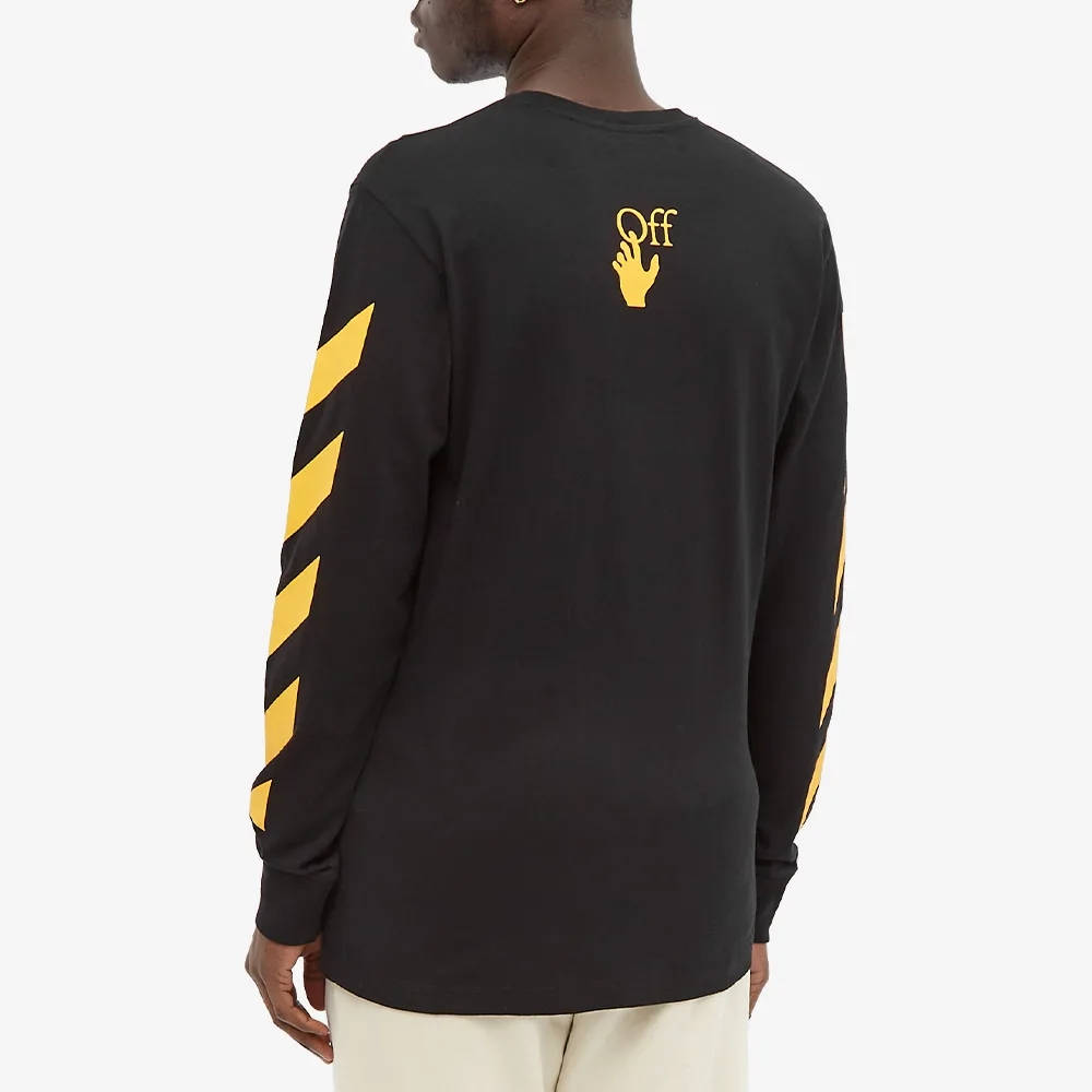 Off-White Long Sleeve Caravaggio Painting T-Shirt Black Back