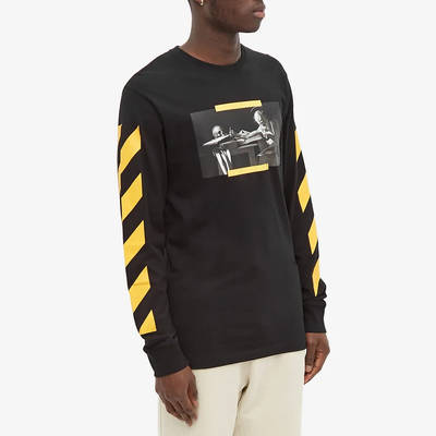 Off-White Long Sleeve Caravaggio Painting T-Shirt Black Front