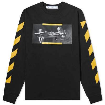Off-White Long Sleeve Caravaggio Painting T-Shirt Black