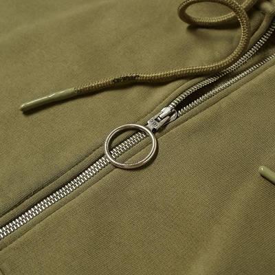 Off-White Rubber Arrow Slim Zip Hoodie Green Detail 2