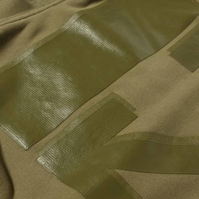 Off-White Rubber Arrow Slim Zip Hoodie Green Detail 3