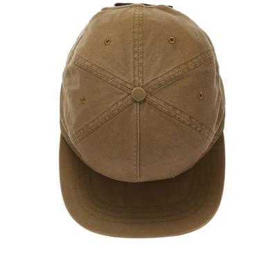 Off-White Slanted Logo Baseball Cap Brown Top