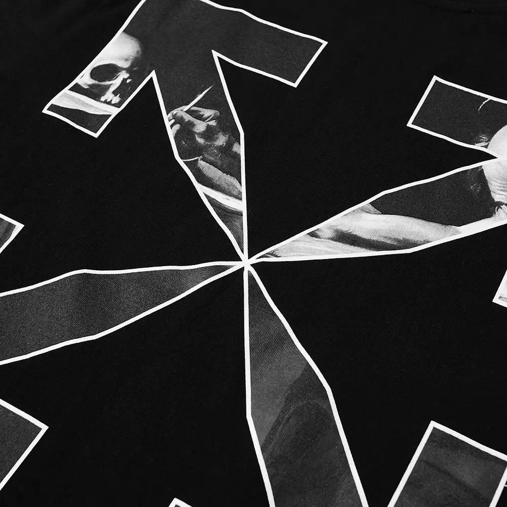 Off-White Slim Caravaggio Arrow T-Shirt Black Detail 2