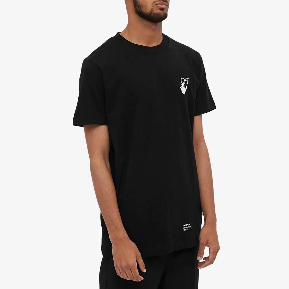 Off-White Slim Caravaggio Arrow T-Shirt Black Front