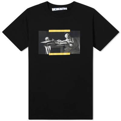 Off-White Slim Caravaggio Painting T-Shirt Black