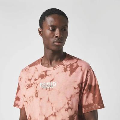Pleasures Trip Dyed T-Shirt Brown Detail