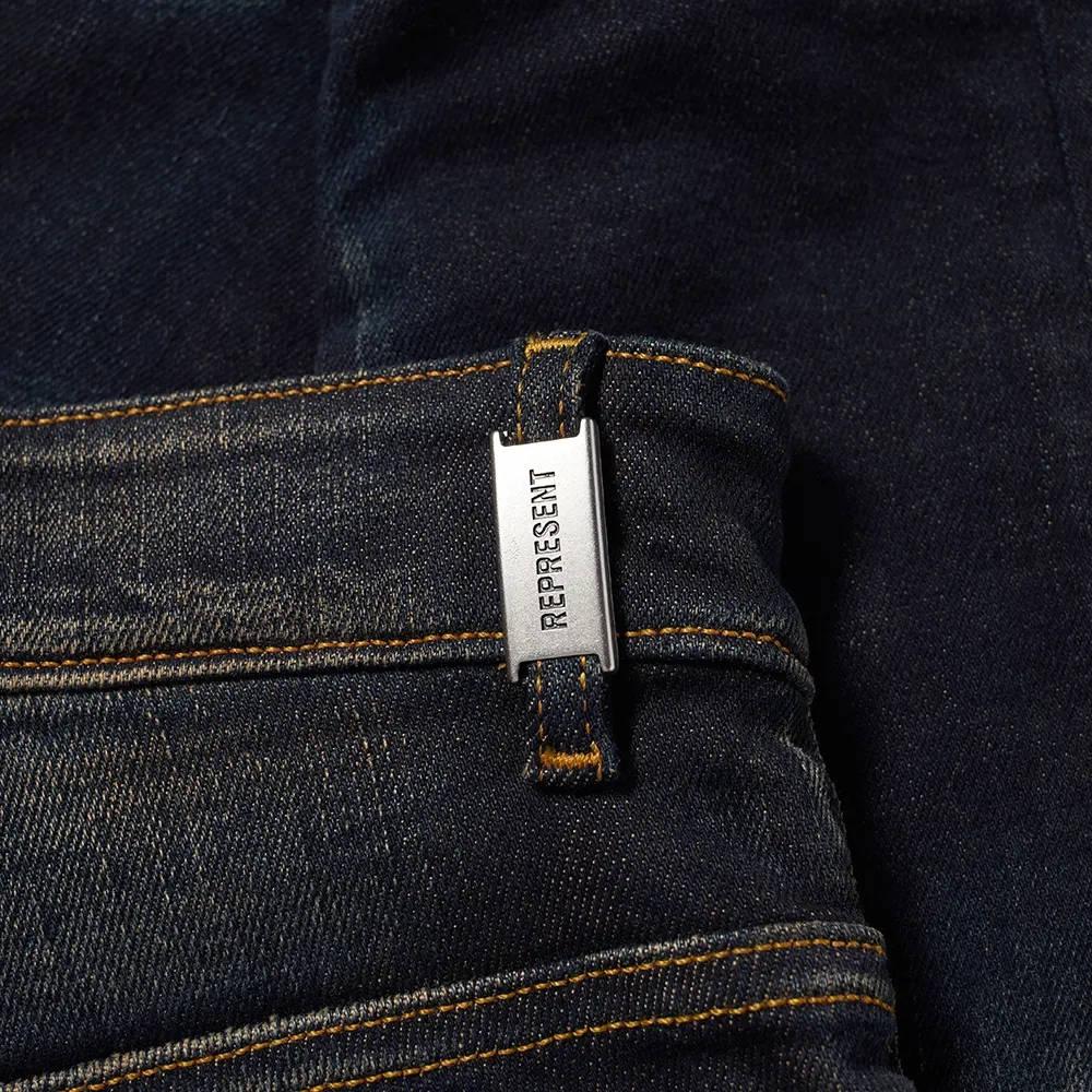 Represent Destroyer Denim Jeans Classic Blue Detail 2