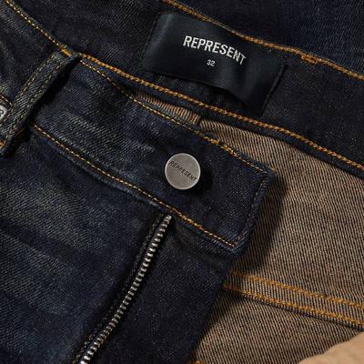 Represent Destroyer Denim Jeans Classic Blue Detail