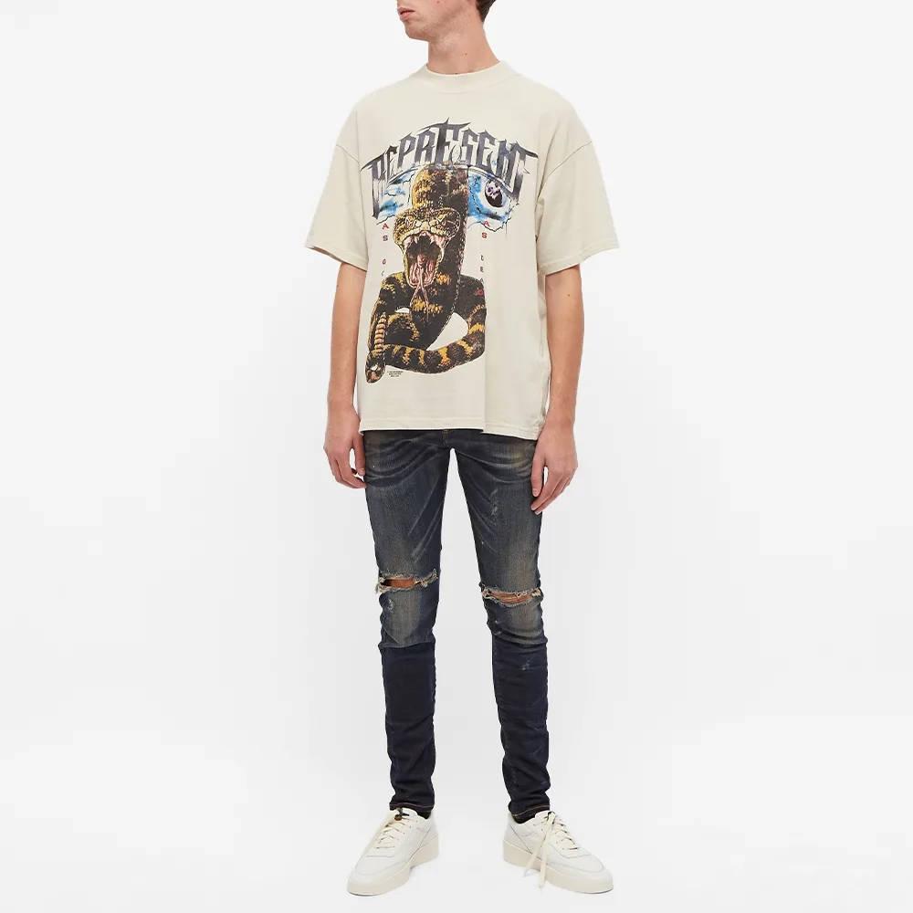 Represent Destroyer Denim Jeans Classic Blue Full