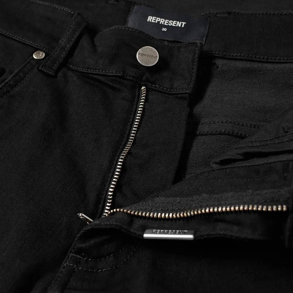 Represent Destroyer Jeans Black Detail