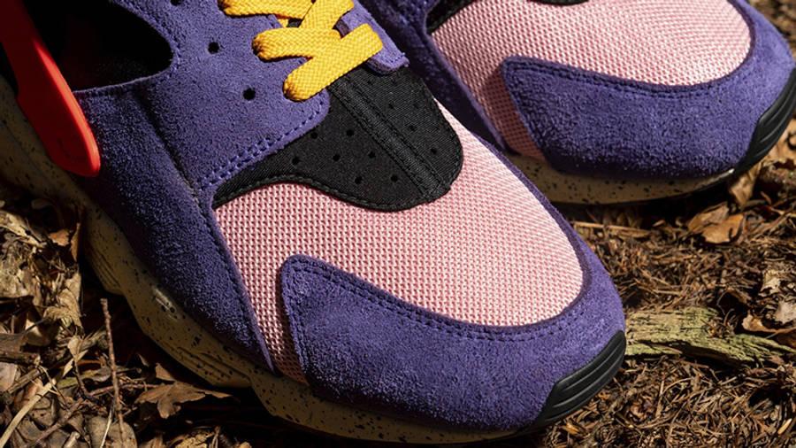 size x Nike Air Huarache ACG Purple Orange Detail