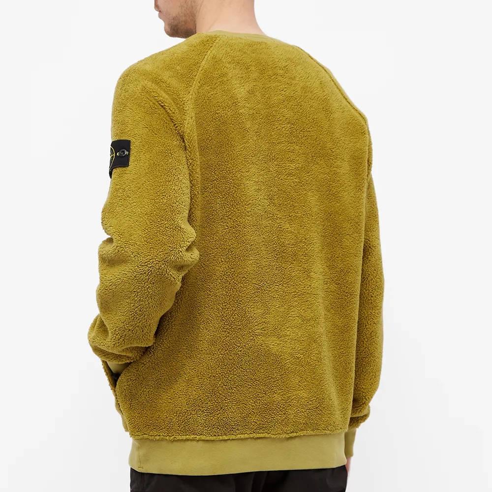 Stone Island Fleece Crew Sweatshirt 751560234-V0098 Back
