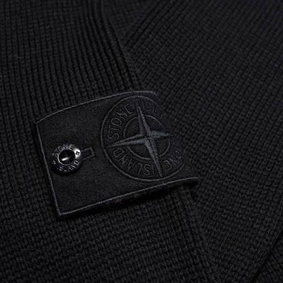 Stone Island Ghost Crew Knit Sweatshirt Navy Detail 2