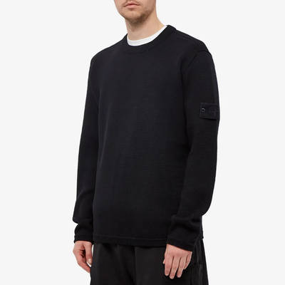 Stone Island Ghost Crew Knit Sweatshirt Navy Front