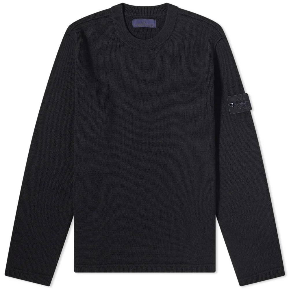 Stone Island Ghost Crew Knit Sweatshirt Navy
