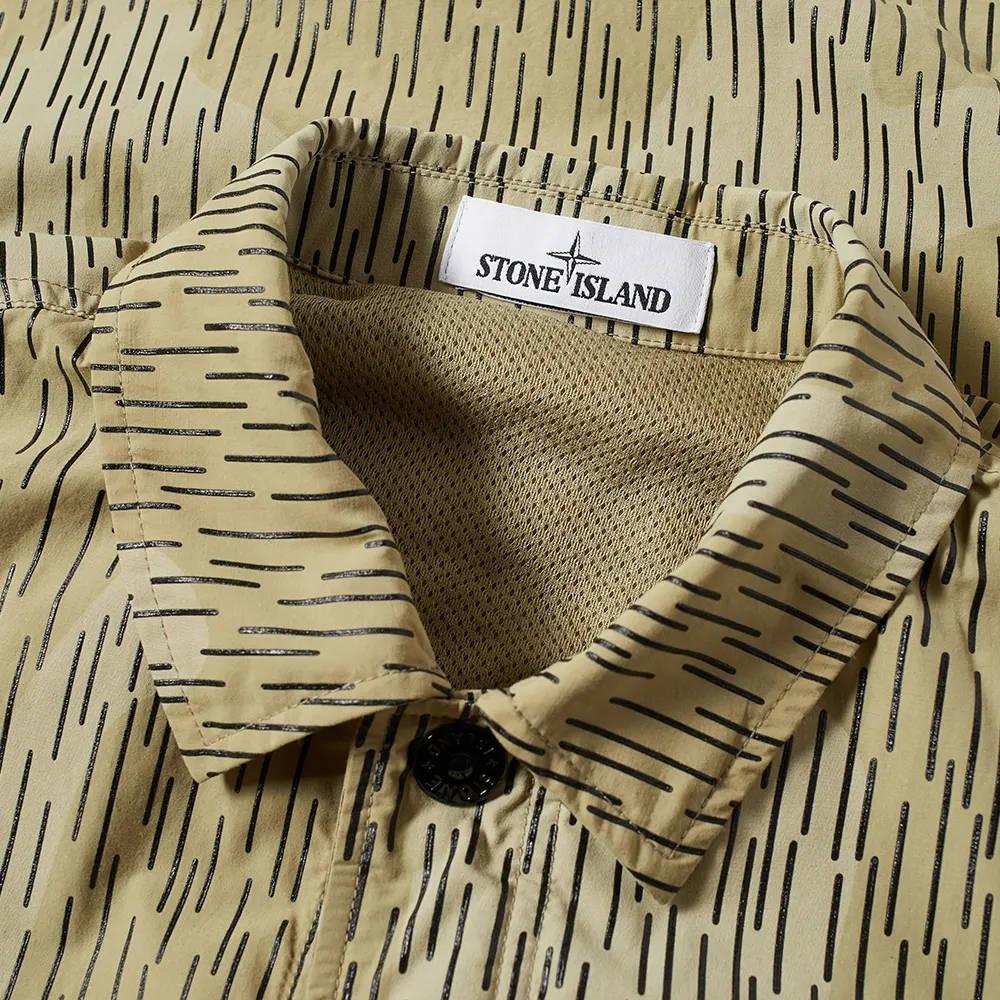 Stone Island Short Sleeve Reflective Rain Camo Shirt 7515112E2-V0091 Detail 3