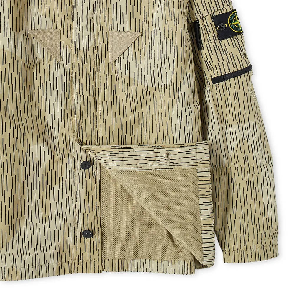 Stone Island Short Sleeve Reflective Rain Camo Shirt 7515112E2-V0091 Detail