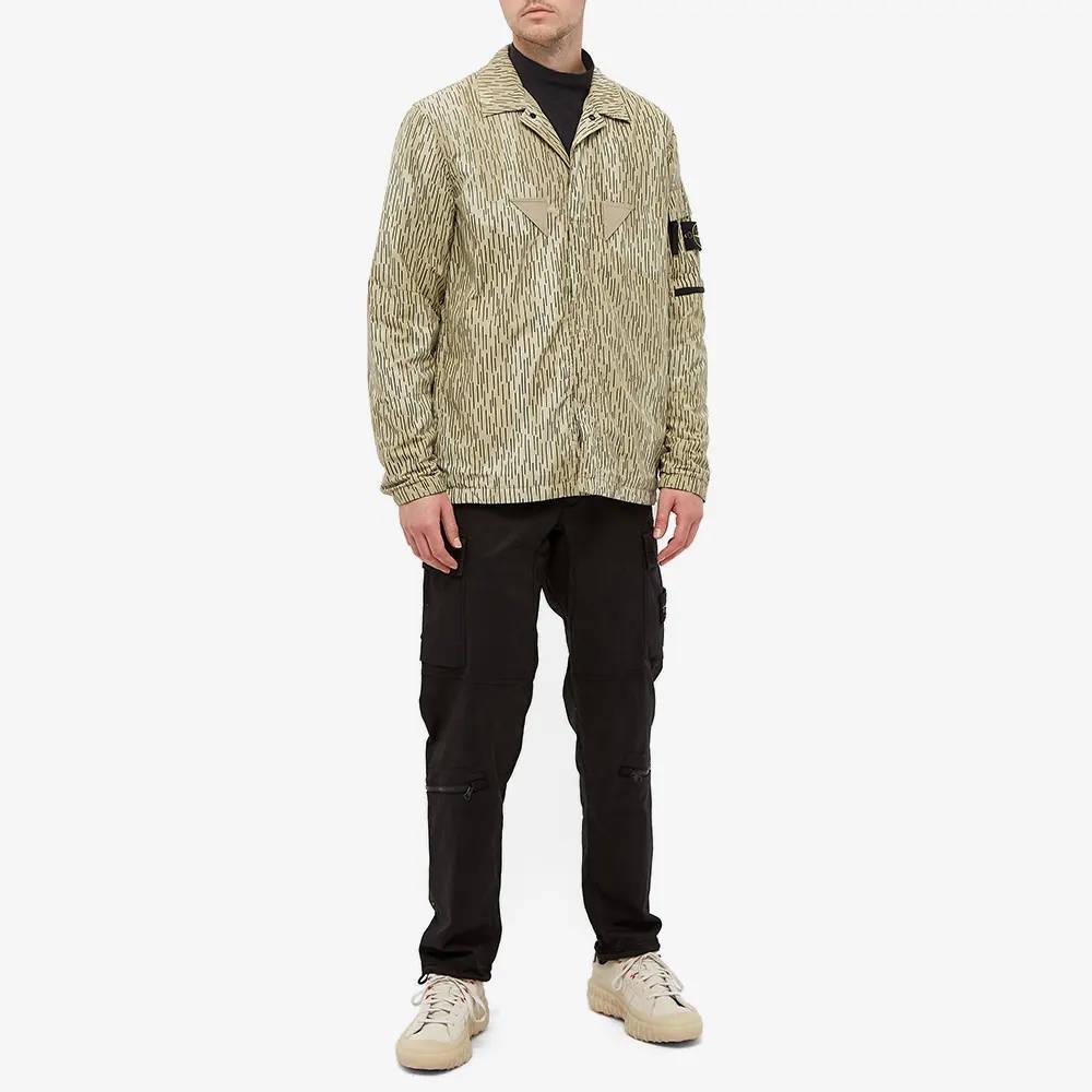 Stone Island Short Sleeve Reflective Rain Camo Shirt 7515112E2-V0091 Full