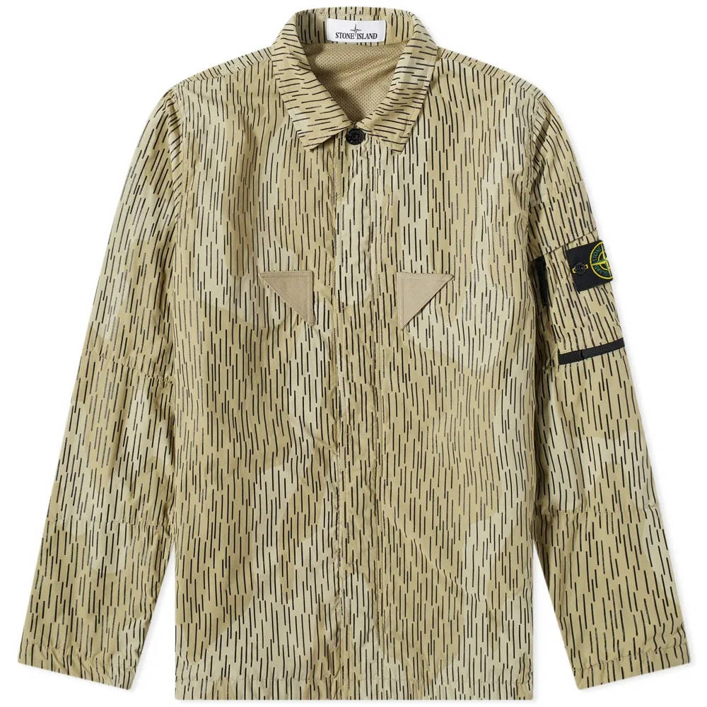 Stone Island Short Sleeve Reflective Rain Camo Shirt 7515112E2-V0091