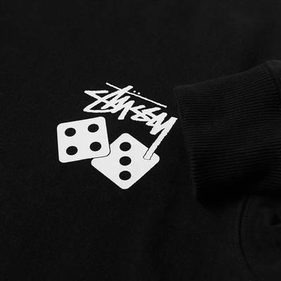 Stussy Dice Crew Sweatshirt Black Detail