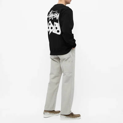 Stussy Dice Crew Sweatshirt Black Full