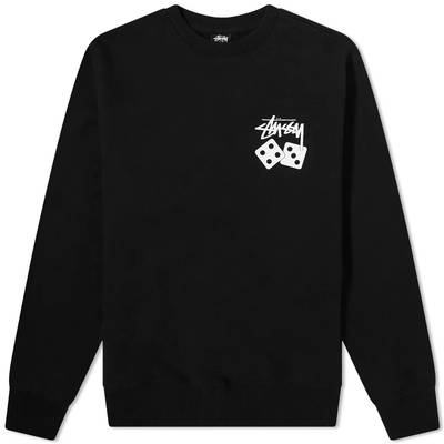Stussy Dice Crew Sweatshirt Black