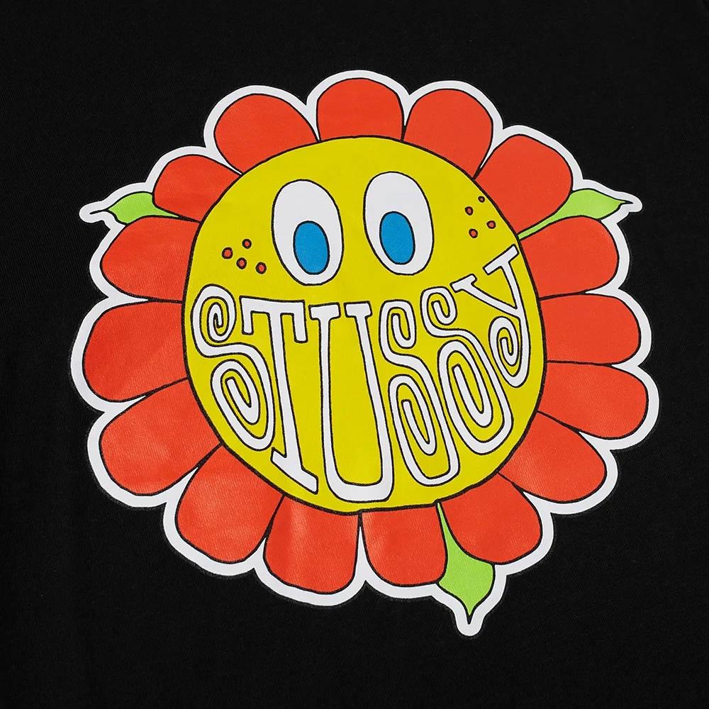 Stussy Happy Flower T-Shirt Black Detail