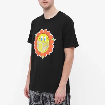 Stussy Happy Flower T-Shirt Black Front