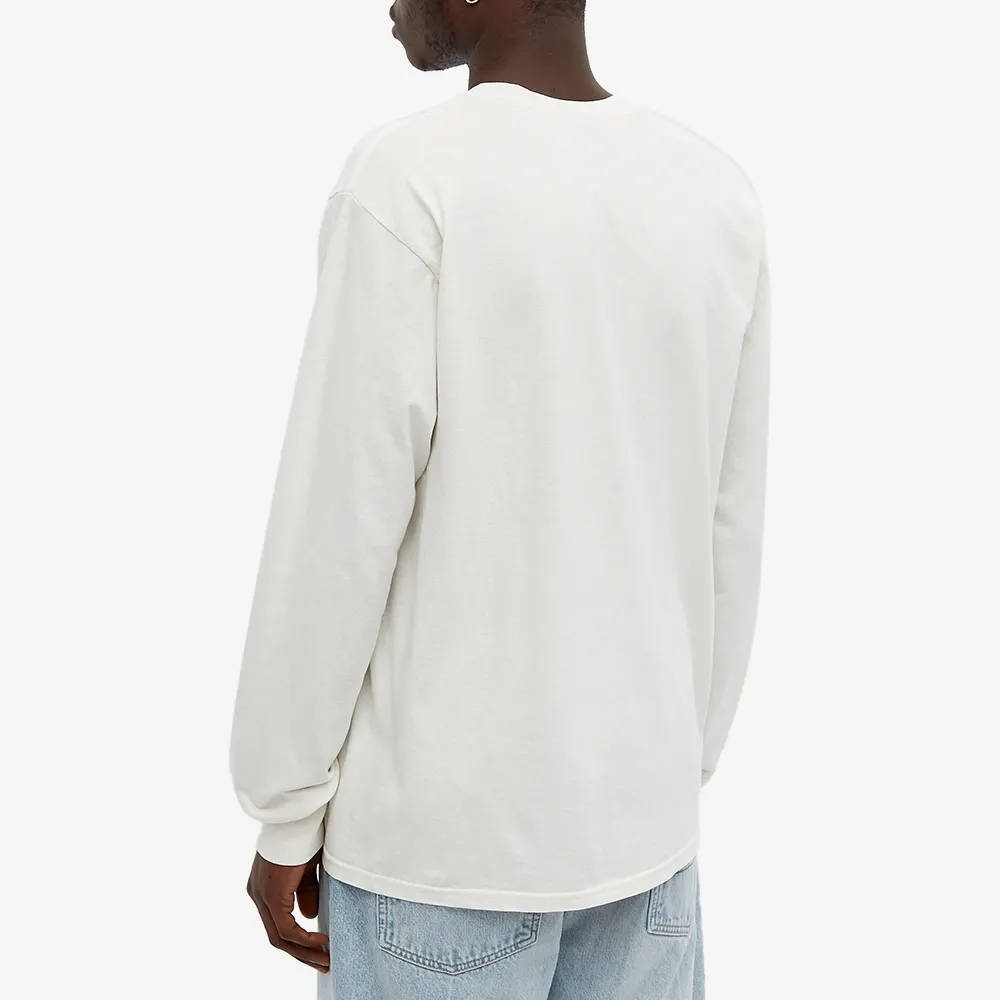 Stussy Long Sleeve S Wreath Pigment Dyed T-Shirt Natural Back