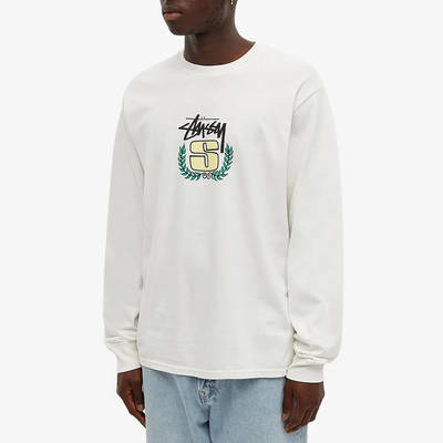 Stussy Long Sleeve S Wreath Pigment Dyed T-Shirt Natural Front