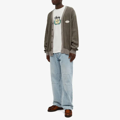 Stussy Long Sleeve S Wreath Pigment Dyed T-Shirt Natural Full