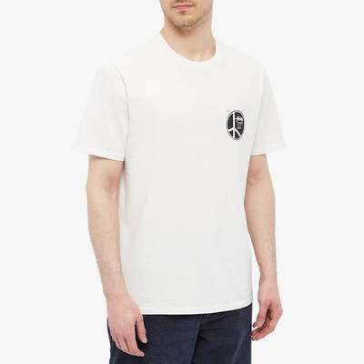 Stussy Peace Dot Pigment Dyed T-Shirt Natural Front