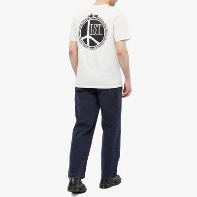Stussy Peace Dot Pigment Dyed T-Shirt Natural Full