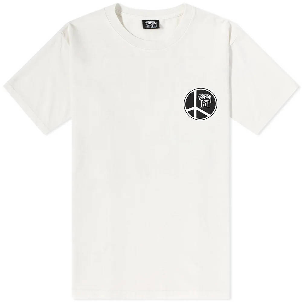 Stussy Peace Dot Pigment Dyed T-Shirt Natural