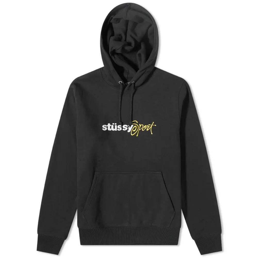Stussy Sport Applique Hoodie Black