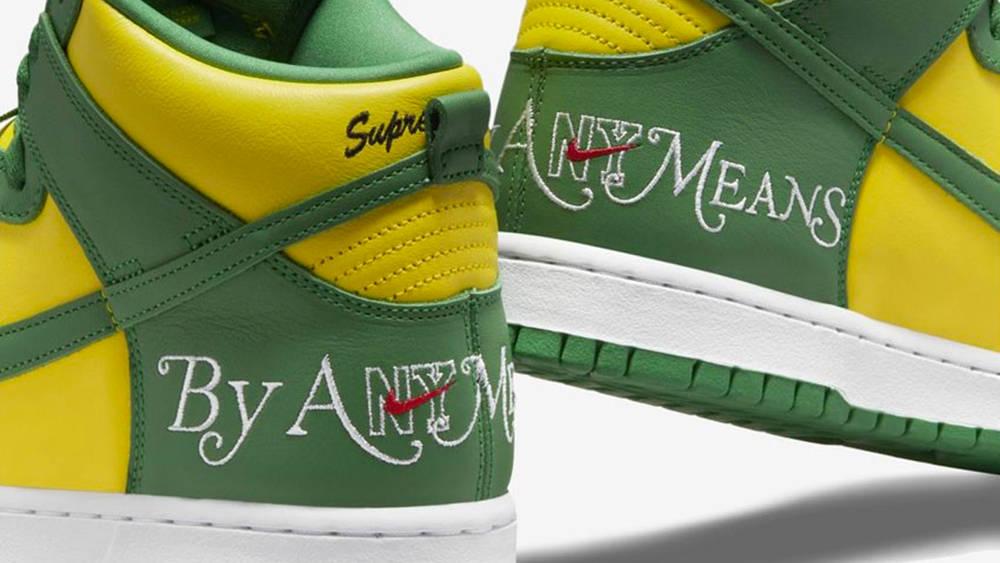 "Supreme x Nike SB Dunk High ""Brazil"""