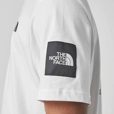 The North Face Black Box Search T-Shirt White Detail
