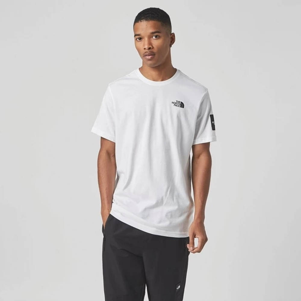The North Face Black Box Search T-Shirt White Front