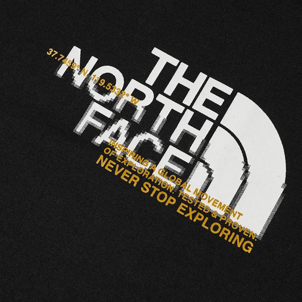 The North Face Coordinates T-Shirt Black Detail