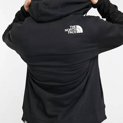 The North Face Himalayan Full Zip Hoodie Black Bacl