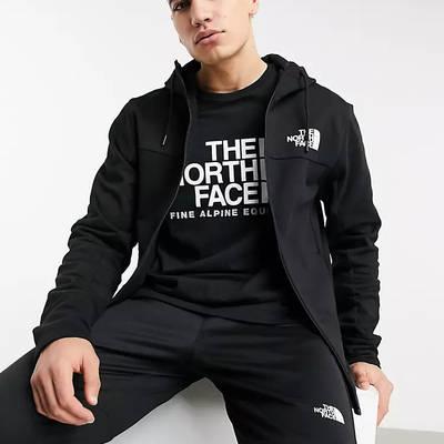 The North Face Himalayan Full Zip Hoodie Black