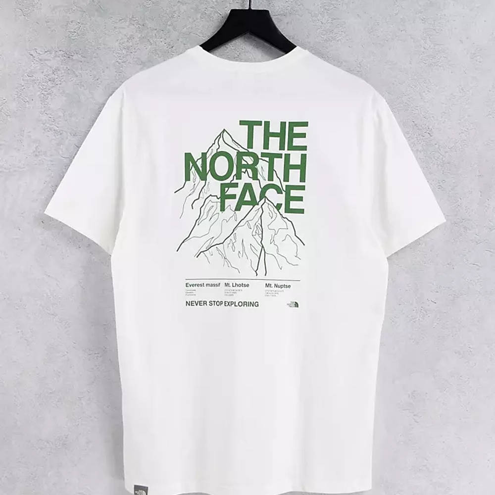 The North Face Mountain Outline T-Shirt White Back