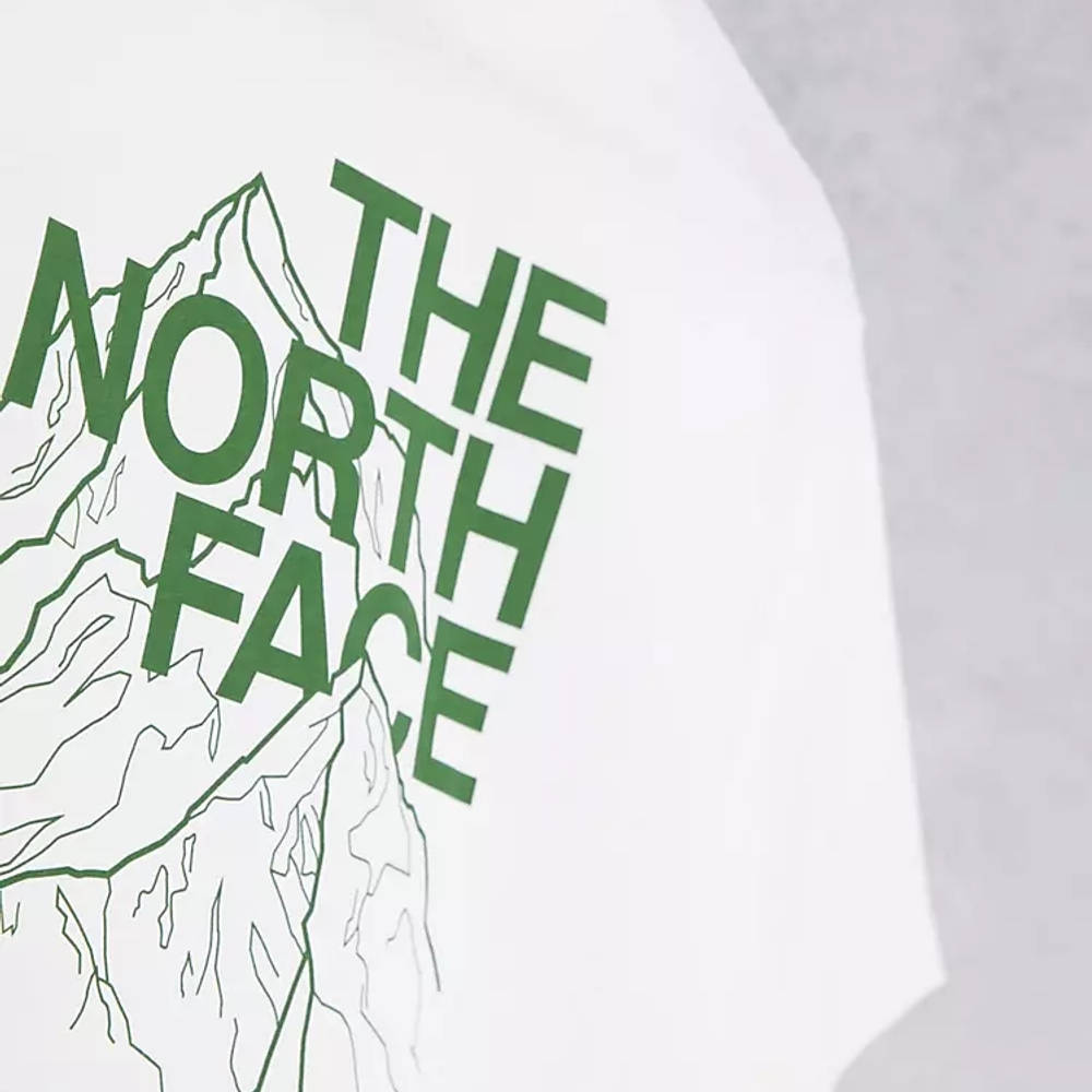 The North Face Mountain Outline T-Shirt White Detail 2