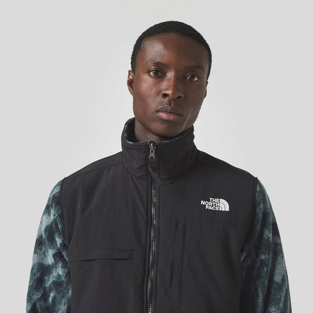 The North Face Print Denali 2 Jacket Black Detail